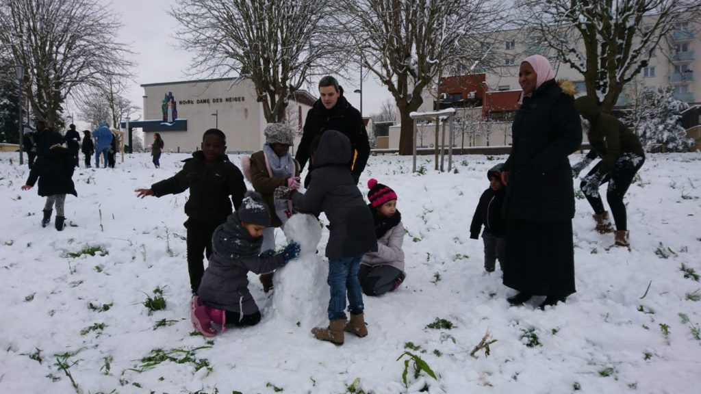 Animation Le Rocher sous la neige aux Mureaux