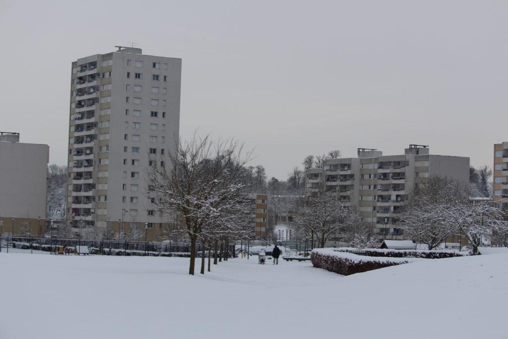 Les Mureaux sous la neige