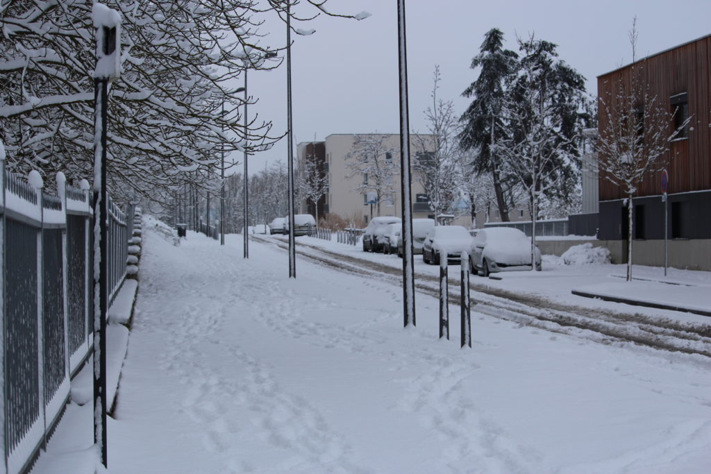 Rue neige Les Mureaux