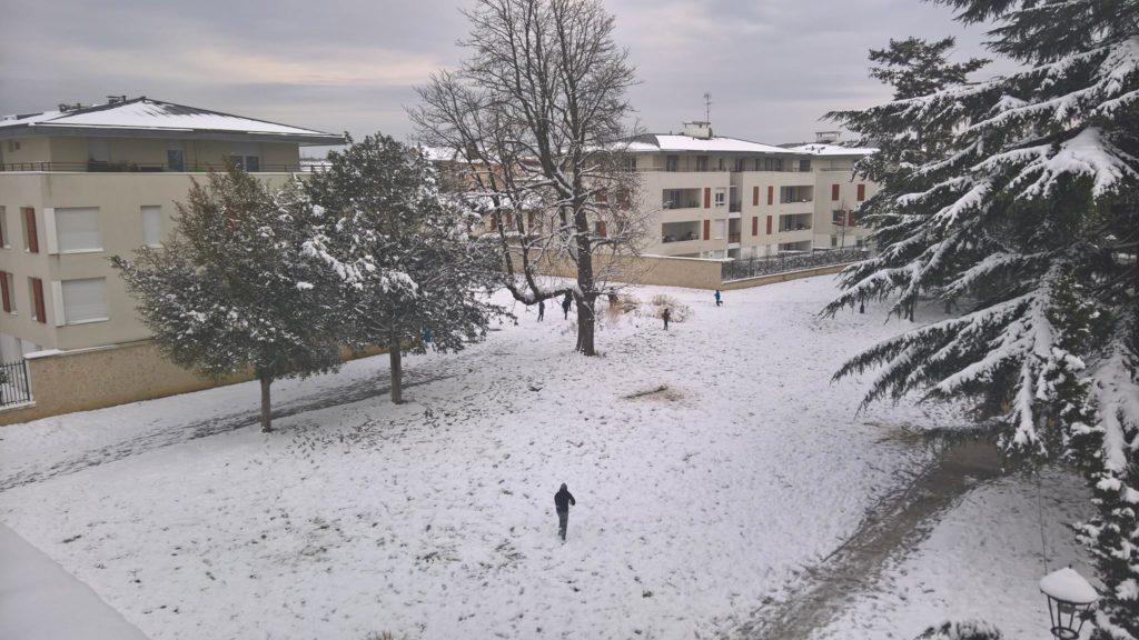 les Mureaux Parc Jean Vauzelle sous la neige