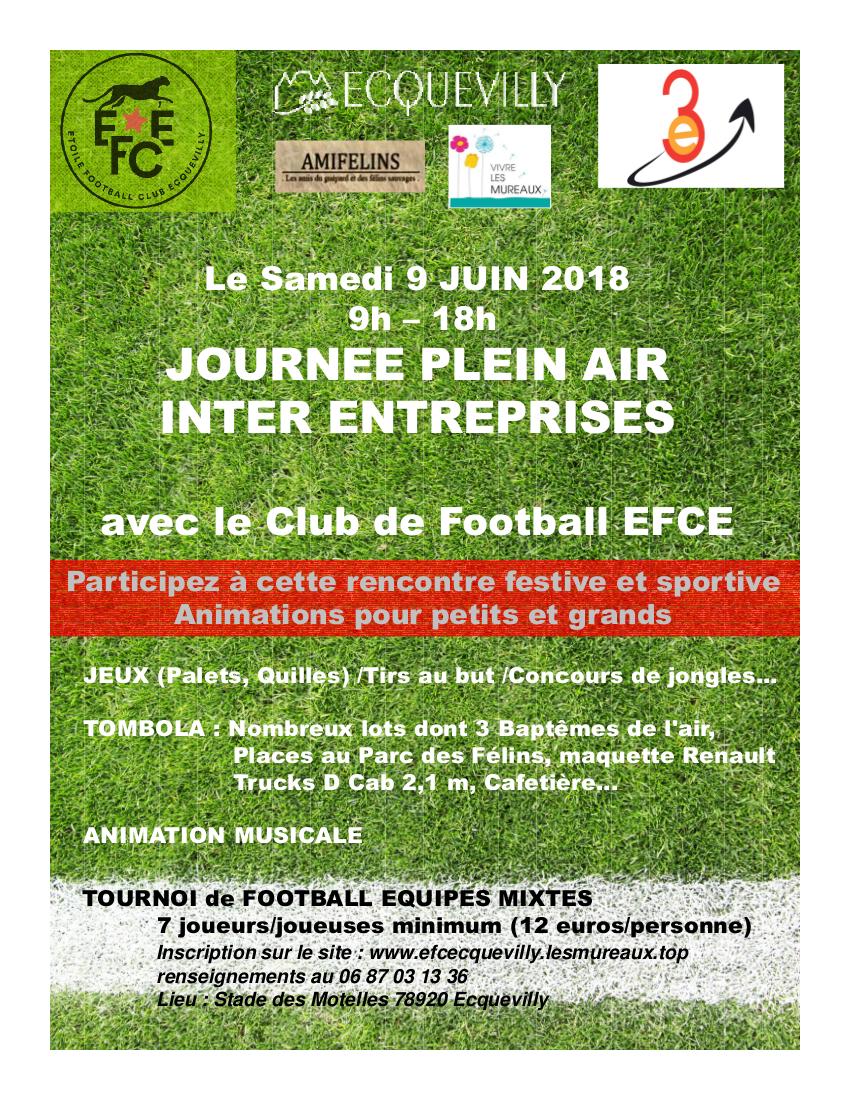 Tournoi Foot inter entreprises Ecquevilly Les Mureaux 9 juin