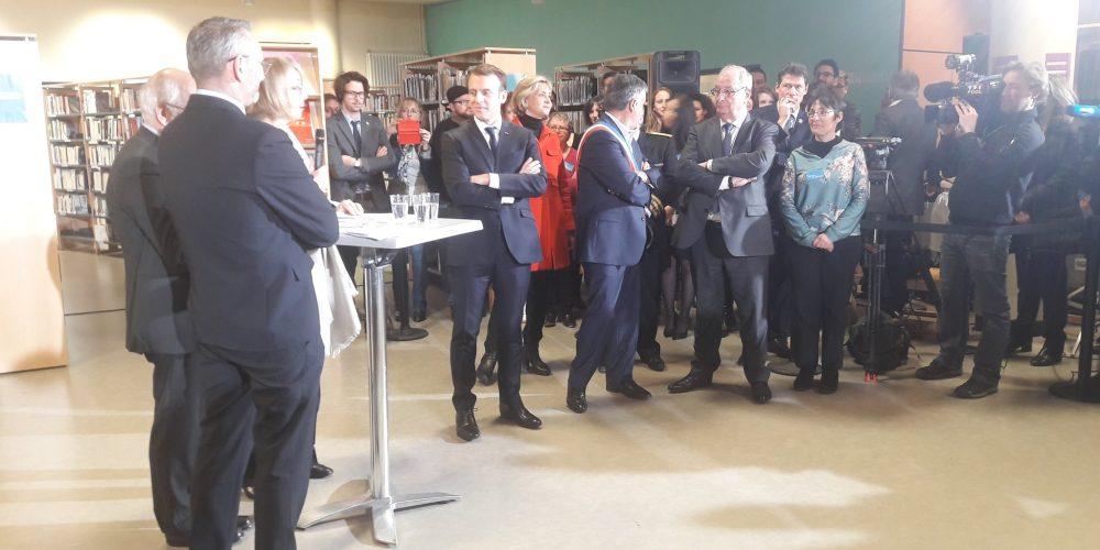 Emmanuel Macron aux Mureaux ce mardi 20 Février