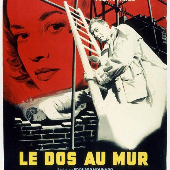 Projection du film Le dos au mur de Frédéric Dard