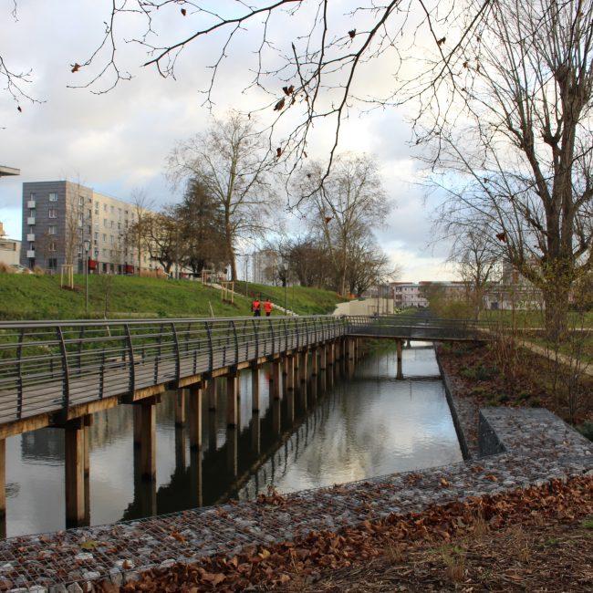 Des sols urbains qui jouent un rôle d'éponge, l'exemple des Mureaux